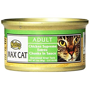 Nutro Max Cat Adult Chicken Supreme Entrée Chunks In Sauce Canned Cat Food,3Oz-(Pack Of 24) 32