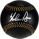 Nolan Ryan Texas Rangers Autographed Black Leather Baseball - Fanatics Authentic Certified - Autographed Baseballs
