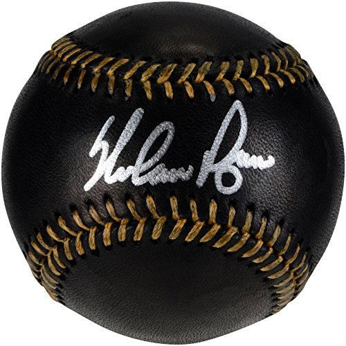 Nolan Ryan Texas Rangers Autographed Black Leather Baseball - Fanatics Authentic Certified - Autographed Baseballs