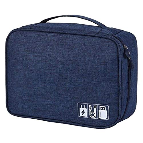 HankuElectronic Accessories Cable Organizer Bag Travel USB Charger Storage Case AU (Blue)
