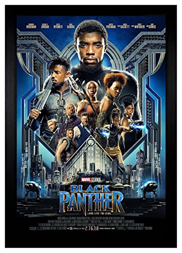"Black Panther Movie Poster 24""x36"" Framed Poster"