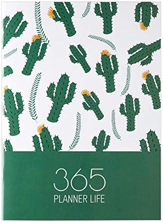 Tischkalender Kalendarien A4 2020 Planner Jahresmonatstag Notebook Organizer Agenda Tages Time Plan Notebook Schule Büro Schedule Stationary (Color : Coffee)