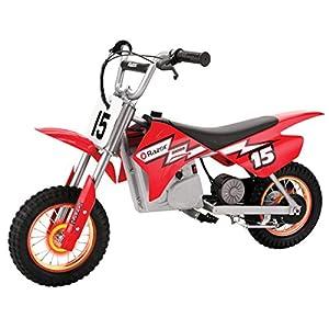 Razor MX400 Dirt Rocket with Lighted Valve Stem, Red