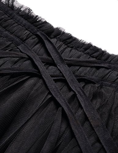 Femme Nknkwlsk62 NEARKIN Jupe Motifs black Moderne ajust XwqqfaI