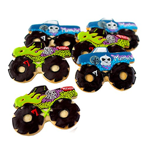 ½ Dz. Monster Truck Cookies! LOTS OF STYLES TO CHOOSE! Birthday Themed Party Favors or Gift! - Monster Truck Cookies