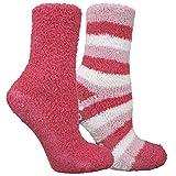 Dr. Scholl's Women's 2 Pack Spa Stripe Crew Socks, pink Shoe Size: 4-10