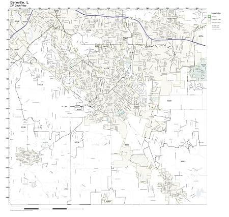 Amazon.com: ZIP Code Wall Map of Belleville, IL ZIP Code Map Not