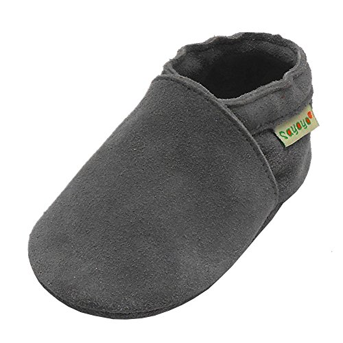 Sayoyo Lowest Best Baby Soft Sole Prewalkers Baby Toddler Shoes Cattle Cashmere Shoes(Grey,12-18 Months)