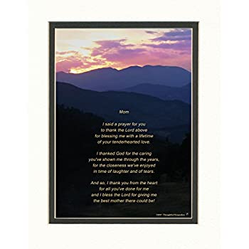 Amazon Mom Gift With Thank You Poem Mt Sunset Photo
