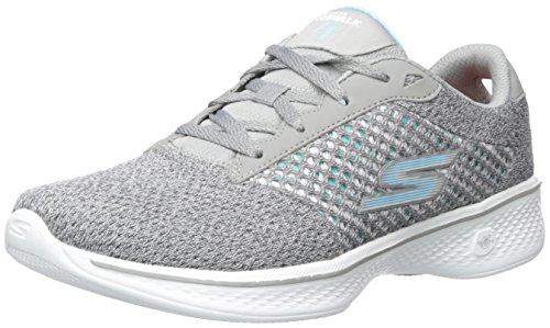 Skechers Performance Women's Go 4-Exceed Walking Shoe, Gray, 7 M US by Skechers