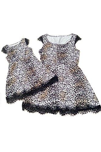 E Yming Famiglia Della Camicia Vestiti Abiti Di Corrispondenza Vestito Mi Mamma figlio Abito Leopardo Padre p4qrwpz