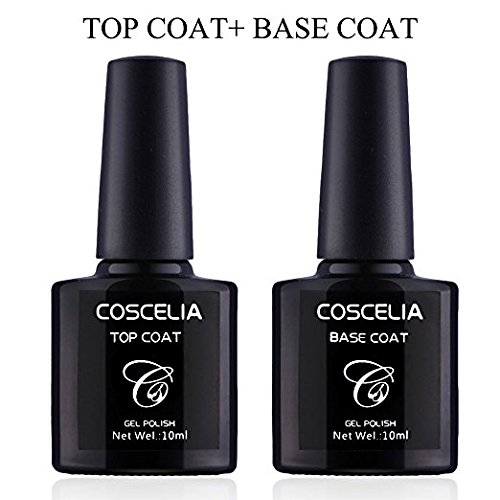 Coscelia UV/LED Soak Off Gel Nail Polish Top Coat and Base C