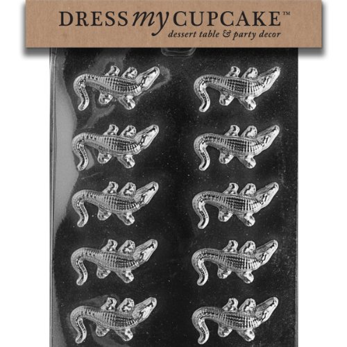 Dress My Cupcake Chocolate Candy Mold, Small - Mold Plastic Alligator