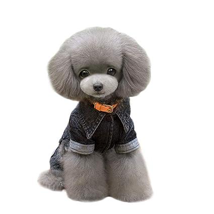 FITIN Mascota Gato Perro Ropa Perros Gatos Ropa Pet Suministros Negro Vaca Cuatro Patas Jeans Mascota