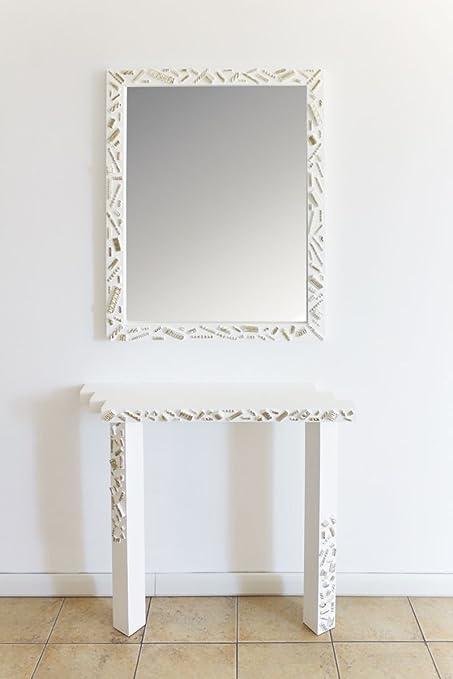 Specchiera E Consolle.Art Intaglio Specchiera E Consolle Eccentrik Design Amazon
