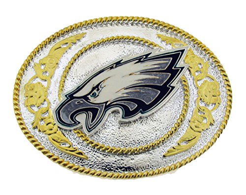 Philadelphia Eagles - Gold and Silver Toned NFL Logo Buckle by Siskiyou