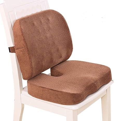 Cojín de espuma viscoelástica, silla de oficina ortopédica ...