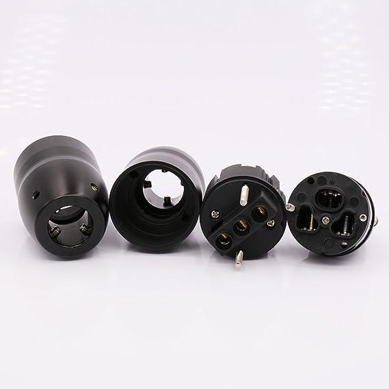 Kontakte rhodiniert Dynavox Highend Schukostecker Stecker beste Qualität