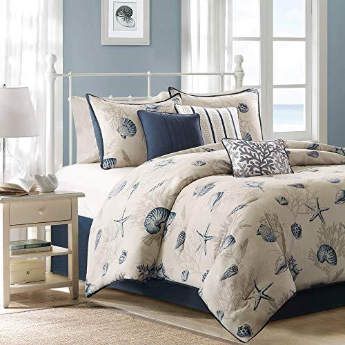 Madison Park MP10-505 Bayside Comforter Set, Blue (Renewed) ()