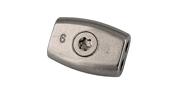 /Abrazadera para cable 2/pieza eiform/ /Cuerda de alambre abrazadera D = 2/mm TX25/ /Acero inoxidable A4/AISI 316/