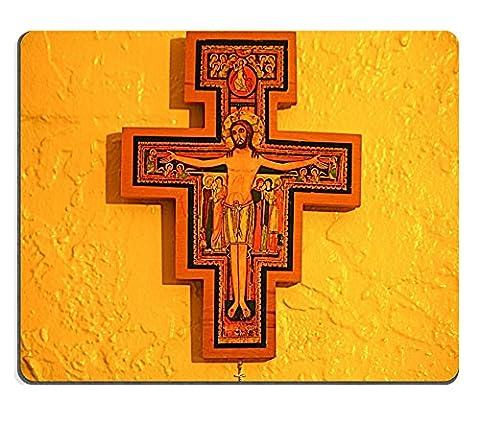 MSD Natural Rubber Mousepad IMAGE ID: 4121815 San Damiano Cross - Franciscans San Damiano