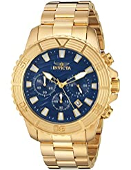 Invicta Mens Pro Diver Quartz Stainless Steel Casual Watch, Color:Gold-Toned (Model: 24001)