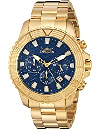 Men's 'Pro Diver' Quartz Stainless Steel Casual Watch, Color:Gold-Toned (Model: 24001)