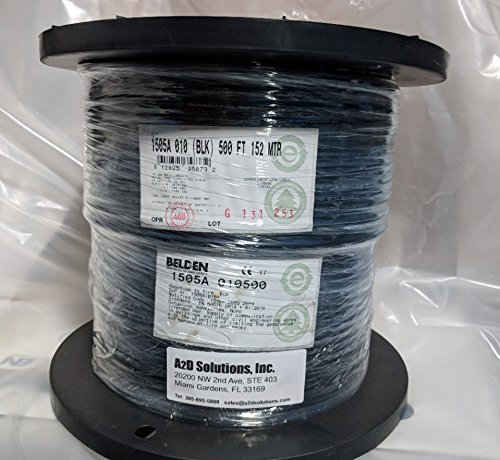Belden 1505A RG59/20 HD and SDI Digital Coaxial Cable - 500 ft ()