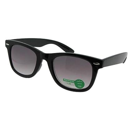 350d5d3638b Retro No Line Progressive Bifocal Sunglasses Style B125 (Black Frame-Gray  Lenses