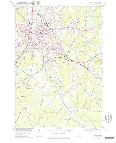 YellowMaps Lewiston ME topo map, 1:24000 Scale, 7.5 X 7.5 Minute, Historical, 1979, Updated 1979, 27.1 x 22 in - Paper
