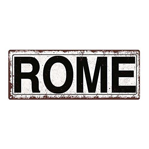Rome Metal Street Sign, Rustic, Vintage