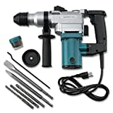 Eight24hours New 1'' Electric Rotary ROTO Hammer Drill SDS Concrete Chisel Kit w/ Bits NEW