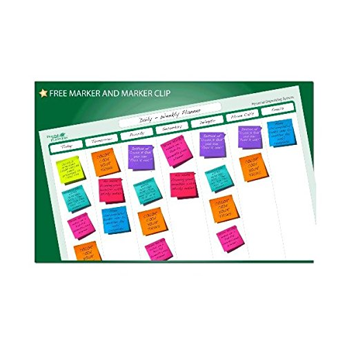 7 Column Organizing System 19 in x 24 in - Laminated and Erasable