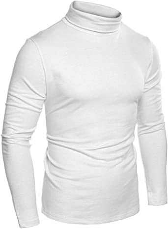 Hombre Camiseta Térmica - Manga Larga Cuello Alto Tops Cómodo ...