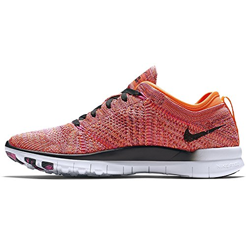 Nike Womens Free TR Flyknit Running Trainers 718785 Sneakers Shoes (UK 7.5 US 10 EU 42, Bright Citrus Black Pink Power Black 800) Bright Citrus/Black-pink Pow-black