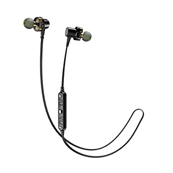 AWEI Auriculares Bluetooth magnéticos, auriculares inalámbricos a prueba de sudor para deportes, correr,