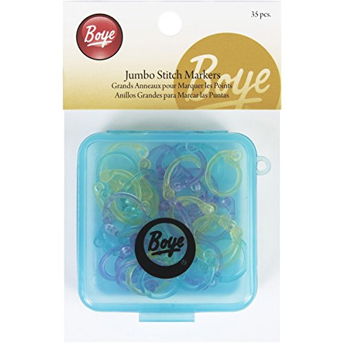 (Boye 7582 Jumbo Stitch Markers for Sizes 0 to 15,)