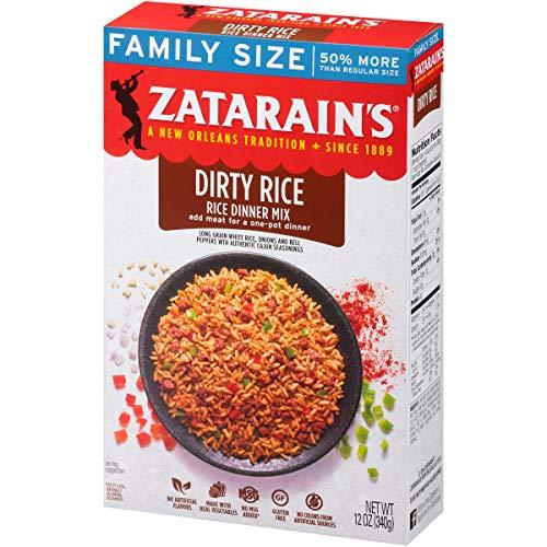 Zatarain's Dirty Rice Family Size, 12 oz (Pack of 8)