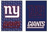 Team Sports America NFL New York Giants Two Sided Glitter Embellished Garden Flag, Medium, Multicolored