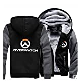 OW Hoodie Sweatshirt Cosplay Fleece Sweatshirt Plus Velvet Hoody Coat Jacket M