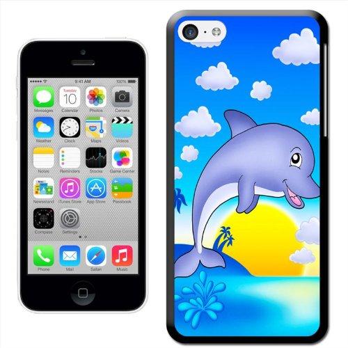 Fancy A Snuggle 'Dauphin souriant sautant hors de l'eau'Coque arrière rigide à clipser pour Apple iPhone 5C