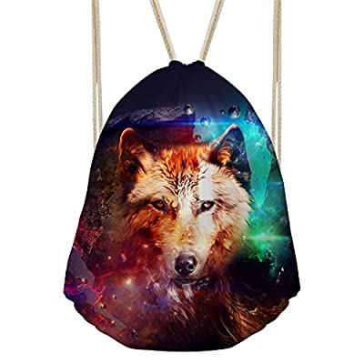 ef4b238a3c32 cheap Nopersonality Folding Printing Animal Drawstring Backpack ...