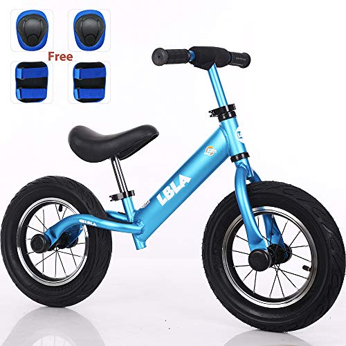 Kids Balance Bike, No Pedal Toddler Bike with Carbon Steel Frame Adjustable Handlebar and Seat 12inch Toddler Walking Bicycle for Kids 2 to 6 Years Old(Blue)