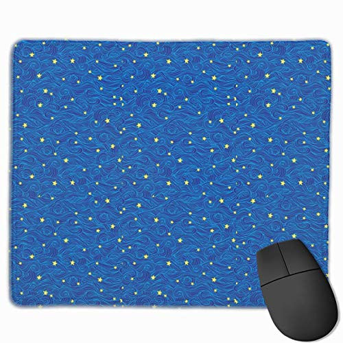Sea Waves Star Quality Comfortable Game Base Mouse Pad with Stitched Edges Size 11.81 9.84 Inch -