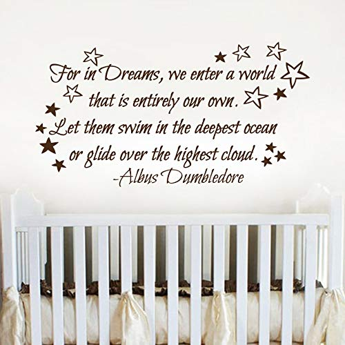 Amazoncom For In Dreams We Enter A World Decalwall Decal Nursery