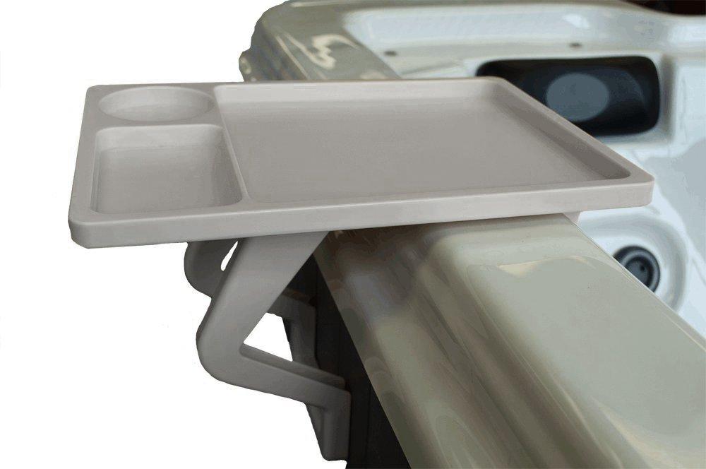 QCA Spas 6950G Aqua Spa Snack Tray, 9.5 by 13-Inch, Grey