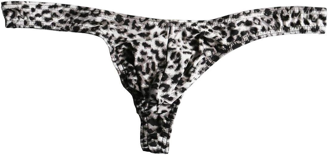 Strings Pour Hommes L/éopard Tanga Triangle Sous-v/êtement Briefs Bikini Trunks L-XXL Jaune/&Noir