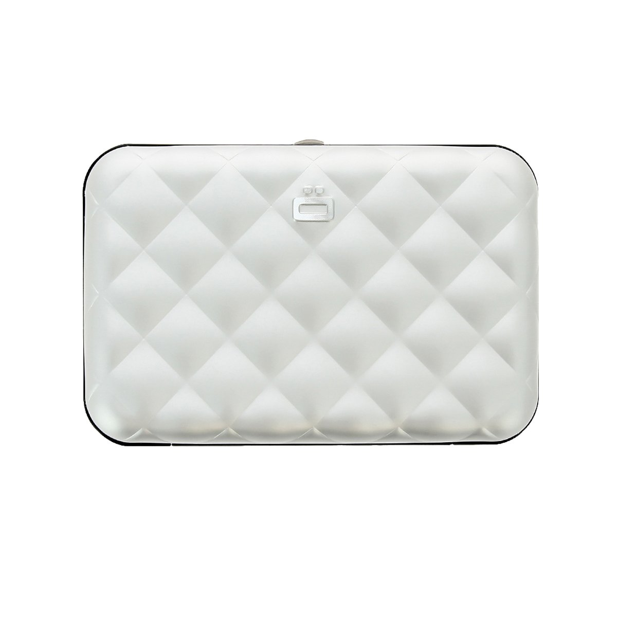 Women's Ogon Designs Silver Aluminum Shell Quilted Button Credit Card Wallet
