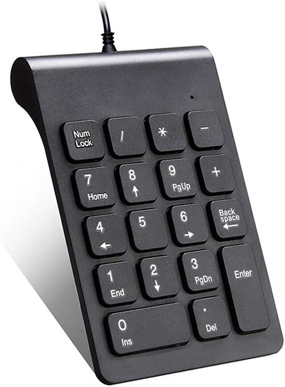 Burysez USB PS//2 Teclado num/érico Universal Ultrafino con n/úmero Mini