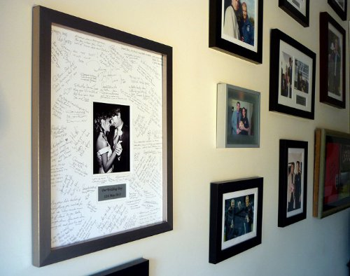 Amazon.com: Personalised Wedding Guest Book Frame - SILVER ...